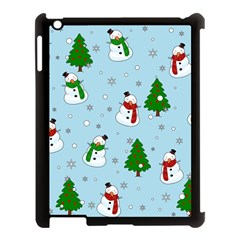 Snowman Pattern Apple Ipad 3/4 Case (black) by Valentinaart