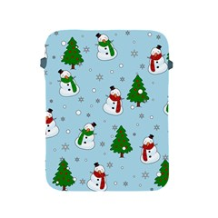 Snowman Pattern Apple Ipad 2/3/4 Protective Soft Cases by Valentinaart
