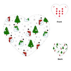 Snowman Pattern Playing Cards (heart)  by Valentinaart