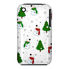 Snowman Pattern Iphone 3s/3gs by Valentinaart