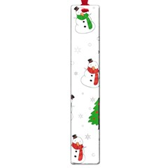 Snowman Pattern Large Book Marks by Valentinaart