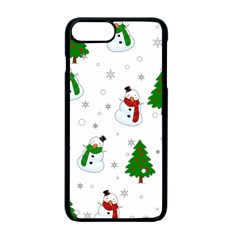 Snowman Pattern Apple Iphone 7 Plus Seamless Case (black) by Valentinaart