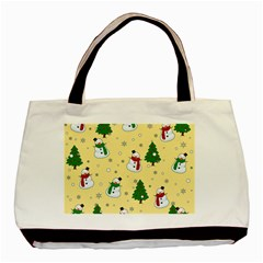 Snowman Pattern Basic Tote Bag by Valentinaart