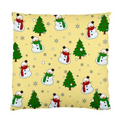Snowman Pattern Standard Cushion Case (one Side)