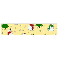 Snowman Pattern Small Flano Scarf by Valentinaart