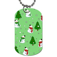Snowman Pattern Dog Tag (one Side) by Valentinaart