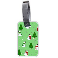 Snowman Pattern Luggage Tags (one Side)  by Valentinaart