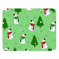Snowman Pattern Double Sided Flano Blanket (large)  by Valentinaart