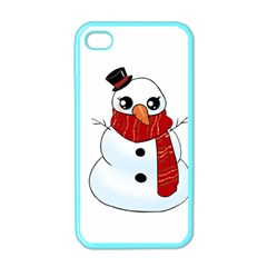 Kawaii Snowman Apple Iphone 4 Case (color) by Valentinaart