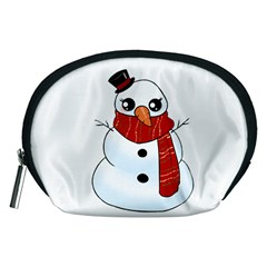 Kawaii Snowman Accessory Pouches (medium)  by Valentinaart