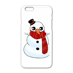 Kawaii Snowman Apple Iphone 6/6s White Enamel Case by Valentinaart