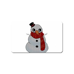 Kawaii Snowman Magnet (name Card) by Valentinaart
