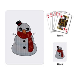 Kawaii Snowman Playing Card by Valentinaart