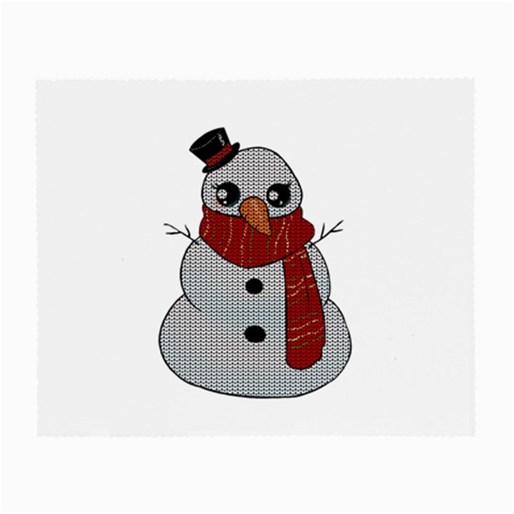 Kawaii Snowman Small Glasses Cloth (2-Side)