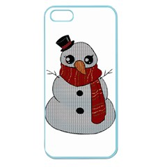 Kawaii Snowman Apple Seamless Iphone 5 Case (color) by Valentinaart