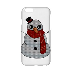 Kawaii Snowman Apple Iphone 6/6s Hardshell Case by Valentinaart