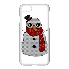 Kawaii Snowman Apple Iphone 8 Seamless Case (white)