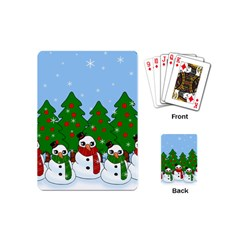 Kawaii Snowman Playing Cards (mini)