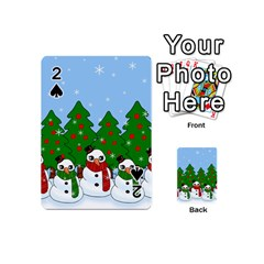 Kawaii Snowman Playing Cards 54 (mini)  by Valentinaart