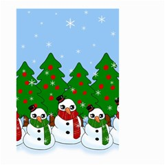Kawaii Snowman Small Garden Flag (two Sides)
