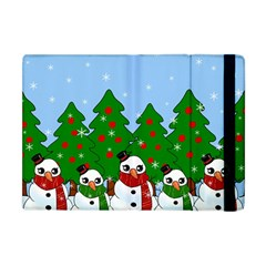 Kawaii Snowman Apple Ipad Mini Flip Case by Valentinaart