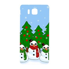 Kawaii Snowman Samsung Galaxy Alpha Hardshell Back Case by Valentinaart