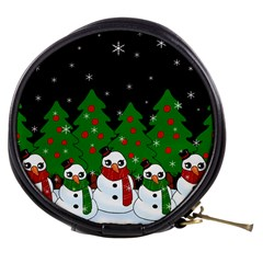 Kawaii Snowman Mini Makeup Bags by Valentinaart