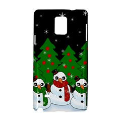 Kawaii Snowman Samsung Galaxy Note 4 Hardshell Case by Valentinaart