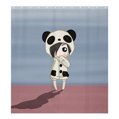 Kawaii Panda Girl Shower Curtain 66  X 72  (large)  by Valentinaart