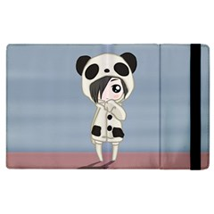 Kawaii Panda Girl Apple Ipad 2 Flip Case