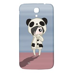Kawaii Panda Girl Samsung Galaxy Mega I9200 Hardshell Back Case by Valentinaart