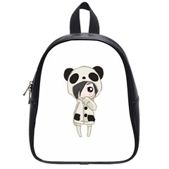 Kawaii Panda Girl School Bag (small) by Valentinaart