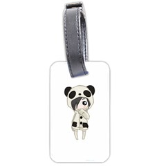 Kawaii Panda Girl Luggage Tags (two Sides) by Valentinaart
