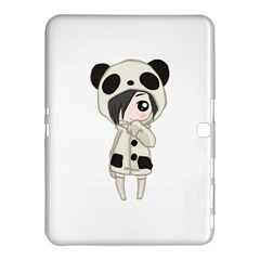 Kawaii Panda Girl Samsung Galaxy Tab 4 (10 1 ) Hardshell Case  by Valentinaart