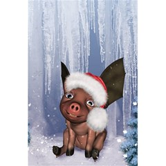 Christmas, Cute Little Piglet With Christmas Hat 5 5  X 8 5  Notebooks by FantasyWorld7