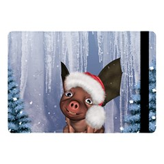 Christmas, Cute Little Piglet With Christmas Hat Apple Ipad Pro 10 5   Flip Case by FantasyWorld7