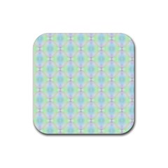 Pattern Rubber Square Coaster (4 Pack)  by gasi