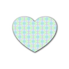 Pattern Rubber Coaster (heart)  by gasi