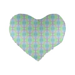 Pattern Standard 16  Premium Flano Heart Shape Cushions by gasi