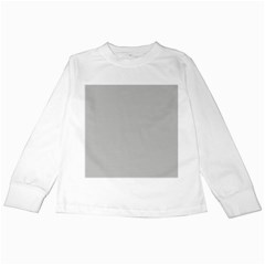 Grey And White Simulated Carbon Fiber Kids Long Sleeve T Shirts by PodArtist