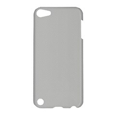 Grey And White Simulated Carbon Fiber Apple Ipod Touch 5 Hardshell Case by PodArtist