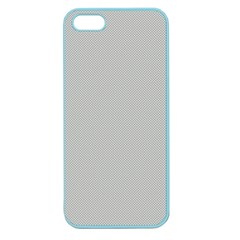Grey And White Simulated Carbon Fiber Apple Seamless Iphone 5 Case (color) by PodArtist