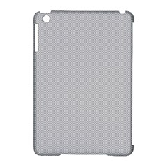 Grey And White Simulated Carbon Fiber Apple Ipad Mini Hardshell Case (compatible With Smart Cover) by PodArtist