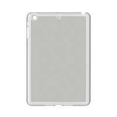 Grey And White Simulated Carbon Fiber Ipad Mini 2 Enamel Coated Cases by PodArtist