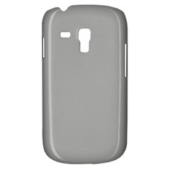 Grey And White Simulated Carbon Fiber Galaxy S3 Mini by PodArtist