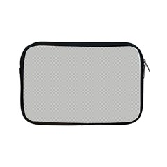 Grey And White Simulated Carbon Fiber Apple Ipad Mini Zipper Cases by PodArtist
