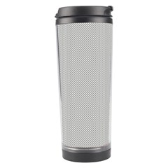 Grey And White Simulated Carbon Fiber Travel Tumbler by PodArtist
