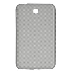 Grey And White Simulated Carbon Fiber Samsung Galaxy Tab 3 (7 ) P3200 Hardshell Case  by PodArtist
