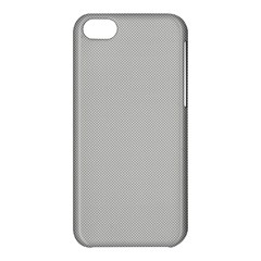 Grey And White Simulated Carbon Fiber Apple Iphone 5c Hardshell Case by PodArtist
