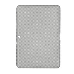 Grey And White Simulated Carbon Fiber Samsung Galaxy Tab 2 (10 1 ) P5100 Hardshell Case  by PodArtist